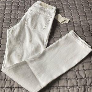 Ralph Lauren white modern slim straight leg jeans